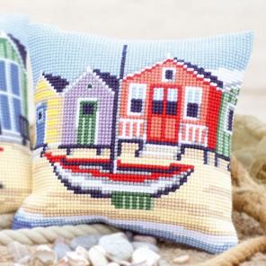 На побережье Набор для вышивания подушки VERVACO