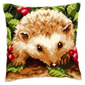 Ёжик с ягодами Набор для вышивания подушки VERVACO