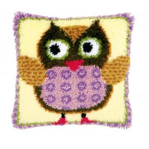 Мисс Сова Набор для вышивания подушки VERVACO