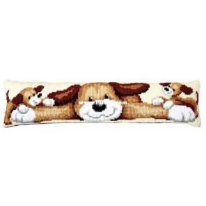 Щенок Набор для вышивания подушки от сквозняка VERVACO