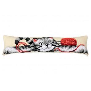 Котик Набор для вышивания подушки от сквозняка VERVACO
