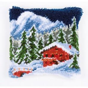 Зимние горы Набор для вышивания подушки VERVACO