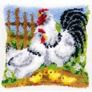 Куриное семейство на ферме Набор для вышивания подушки VERVACO