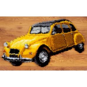 Старый желтый автомобиль Набор для вышивания коврика VERVACO