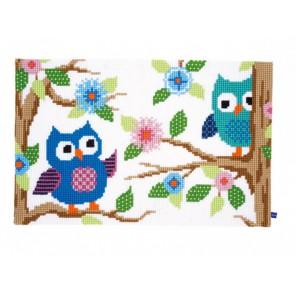 Беседующие совы Набор для вышивания коврика VERVACO