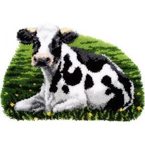 Отдыхающая корова Набор для вышивания коврика VERVACO