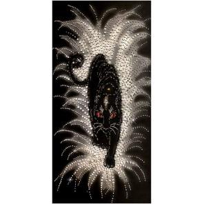 Черная пантера Набор для вышивания хрустальными бусинами СТУДИЯ ВЫШИВКИ