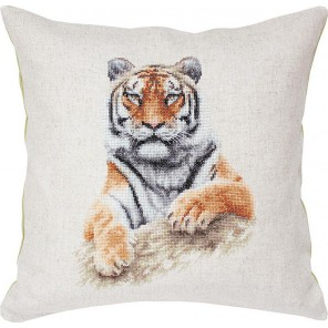 Тигр Набор для вышивания подушки LUCA-S