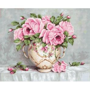 Розовые розы Набор для вышивания LUCA-S