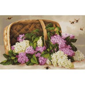 Сирень в корзине Набор для вышивания LUCA-S