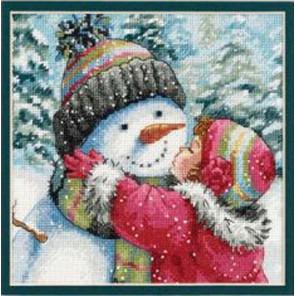 Поцелуй для снеговика 70-08833 Набор для вышивания Dimensions ( Дименшенс )