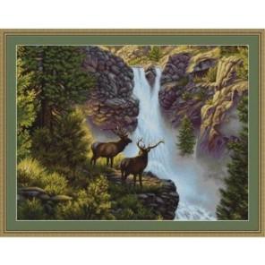 У водопада Набор для вышивания LUCA-S