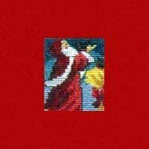Санта Клаус и снегири Набор для вышивания PERMIN