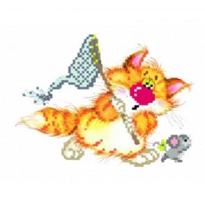 Без кота - жизнь не та! Салочки Набор для вышивания бисер-ленты МАТРЕНИН ПОСАД