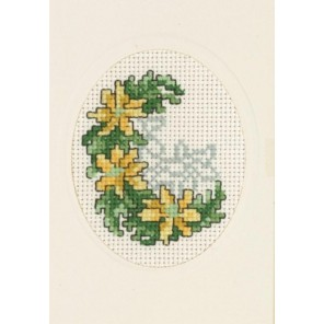 Нарциссы Набор для вышивания открытки PERMIN