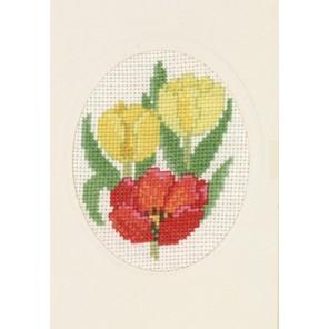 Тюльпаны Набор для вышивания открытки PERMIN