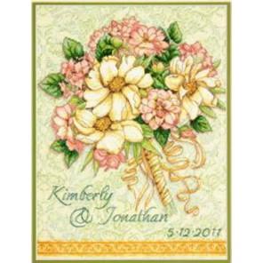 Запись о свадьбе: свадебный букет 70-35275 Набор для вышивания Dimensions ( Дименшенс )
