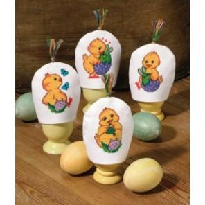Активные цыплята Набор для вышивания грелки для яиц декоративная PERMIN
