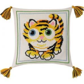 Тигр Набор для вышивания подушки PERMIN
