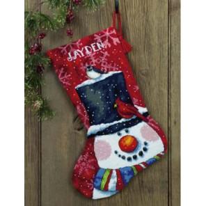 Сапожок, Снеговик и друзья 71-09146 Набор для вышивания Dimensions ( Дименшенс )