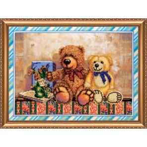 Игрушки 2 Набор для вышивки бисером на натуральном художественном холсте АБРИС АРТ