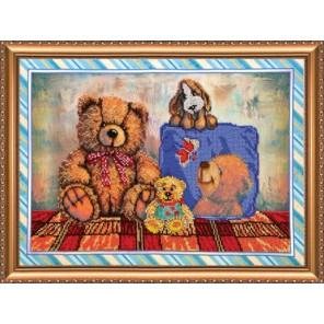 Игрушки 3 Набор для вышивки бисером на натуральном художественном холсте АБРИС АРТ