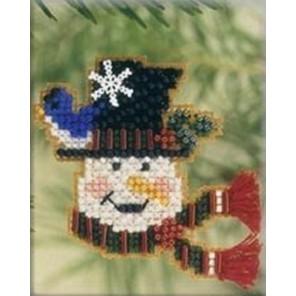 Снеговик-весельчак Набор для вышивания бисером MILL HILL