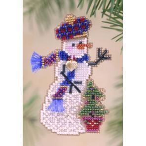 Снеговик с ёлочкой Набор для вышивания бисером MILL HILL