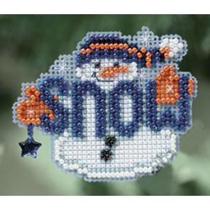 Снеговик Набор для вышивания бисером MILL HILL