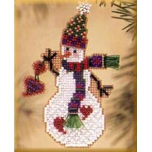Снеговик с сердечком Набор для вышивания бисером MILL HILL