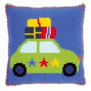 Каникулы на машине Набор для вышивания подушки VERVACO