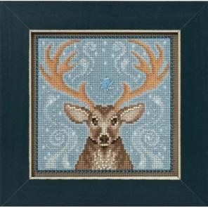 Зимний олень Набор для вышивания бисером MILL HILL