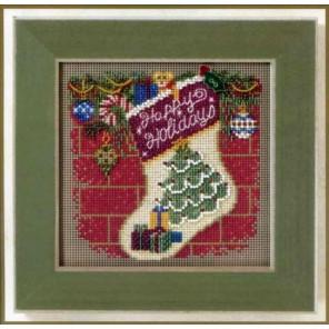 Новогодний чулок Набор для вышивания MILL HILL