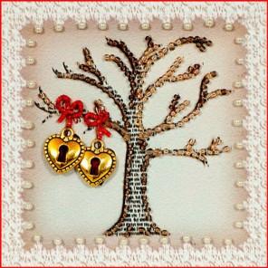 Дерево любви Набор для вышивания хрустальными бусинами, магнит СТУДИЯ ВЫШИВКИ