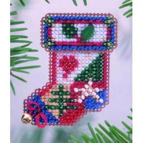 Носок рождественский Набор для вышивания бисером MILL HILL