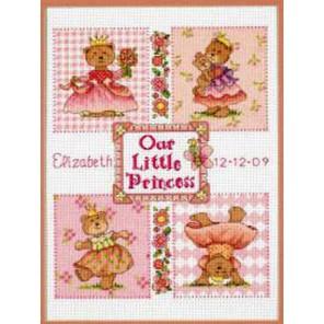 Запись о рождении:С днем рождения, маленькая принцесса! 73425 Набор для вышивания Dimensions ( Дименшенс )