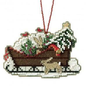 Лесные сани Набор для вышивания бисером MILL HILL