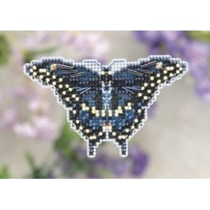 Черная бабочка-парусник Набор для вышивания бисером MILL HILL