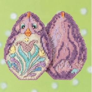 Фиолетовый цыпленок Набор для вышивания MILL HILL