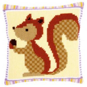 Белка с орехом Набор для вышивания подушки VERVACO