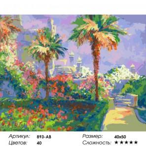 Сложность и количество цветов Сиреневый вечер. Крым Раскраска картина по номерам на холсте 893-AB