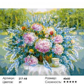 Сложность и количество красок Солнечный день в парке Раскраска картина по номерам на холсте 217-AB