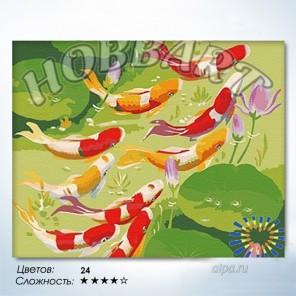 Количество цветов и сложность Карпы удачи Раскраска по номерам на холсте Hobbart HB4050060