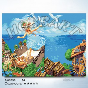 Количество цветов и сложность Летите, голуби, летите Раскраска по номерам на холсте Hobbart HB3040116