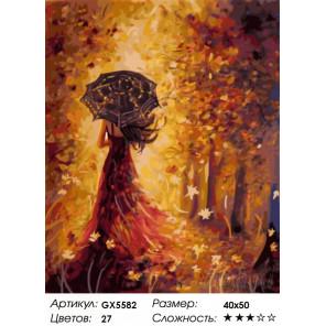 Количество цветов и сложность Осенняя фея Раскраска по номерам на холсте Menglei Z-GX5582