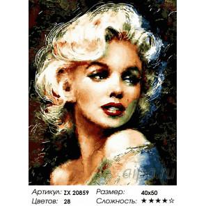 Количество цветов и сложность Мэрилин Раскраска картина по номерам на холсте ZX 20859