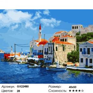 Количество цветов и сложность Греция Раскраска картина по номерам на холсте GX22480