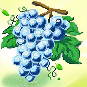 Гроздь винограда Алмазная частичная вышивка (мозаика) K-6036