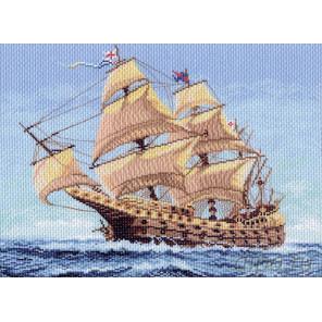 Морской странник Канва с рисунком для вышивки Матренин посад