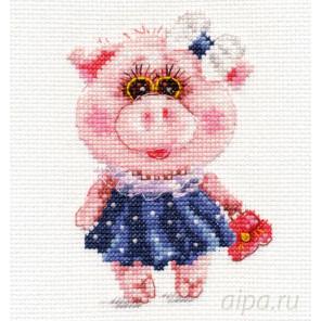 Свинка Тося Набор для вышивания Алиса 0-183